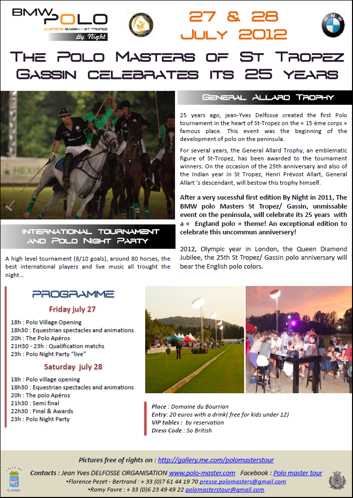 Image   Press Release n1 -2012-BMW Polo Masters By Night St Tropez -Gassin